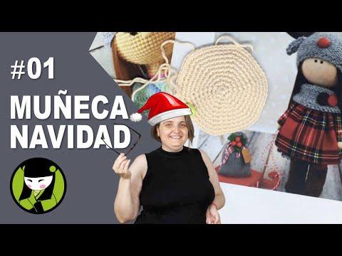 Muñeca navideña a crochet 1 amigurumis de navidad