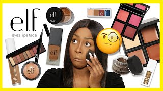 FINALMENTE MI TRUCCO SOLO CON ELF COSMETICS 🤯 ! FULL FACE MAKEUP ON DARK SKIN | TUTORIAL PELLE SCURA