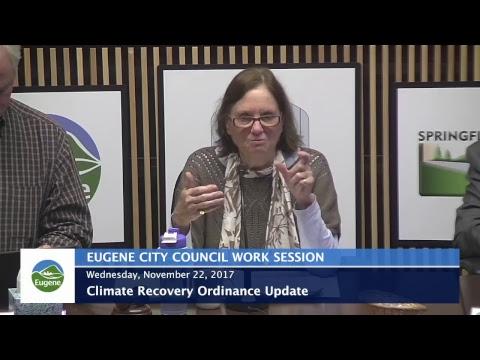 Eugene City Council Wednesday Work Session: November 22, 2017