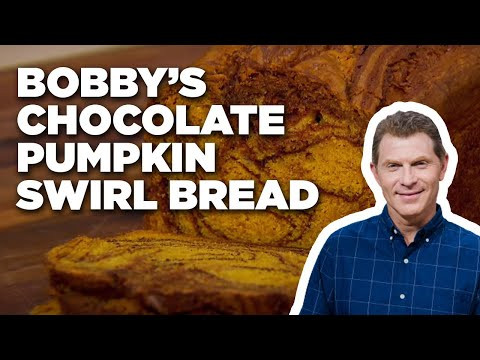 How to Make Bobby's Chocolate Pumpkin Swirl Bread | Food Network