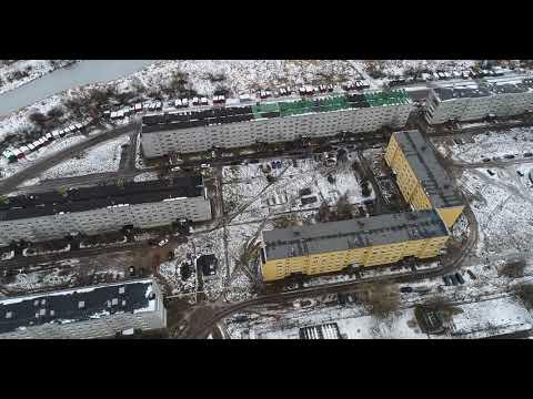 Дорогобуж видео с квадрокоптера 4K. Улицы Путенкова и Мира.