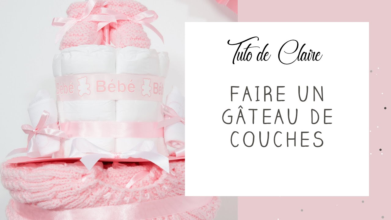tuto comment r aliser un g teau de couches cadeau naissance organisation baby shower diy youtube. Black Bedroom Furniture Sets. Home Design Ideas