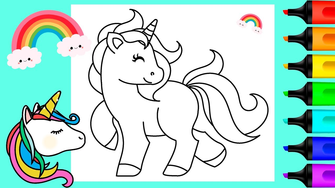 Rainbow Unicorn Coloring Pages | Art and Coloring Fun ...