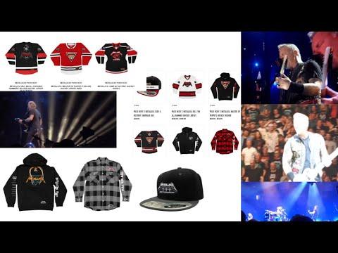 Metallica and Puck Hcky fashion announced METALLICA hockey merch ...!
