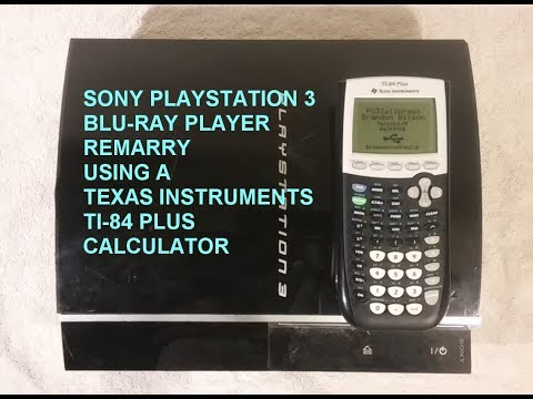 Sony PS3 Remarry Blu-ray using a TI-84+ calculator as a Jig.