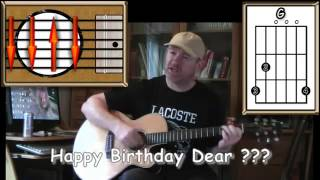 Đệm hát guitar Happy Birthday to You