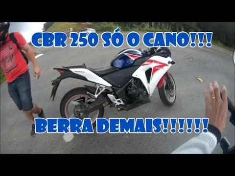 CBR 250 SÓ O CANO - ROLÊ BARULHENTO COM DIOGO 91 - Tramps Motovlog