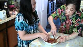 Chinese Steamed Eggs With Pork:  Kid Cooks Grandma's Authentic Recipe