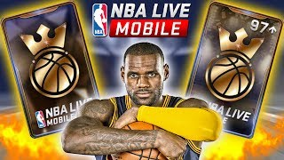 INSANE KINGS OF THE COURT PACK OPENING + CRAZY 97 OVR PULL | NBA LIVE MOBILE PACK OPENING