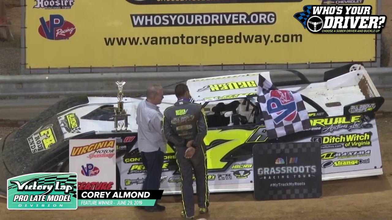 WHOSYOURDRIVER.ORG VICTORY LANE - Corey Almond Victory Lap Pro Late Models 062919
