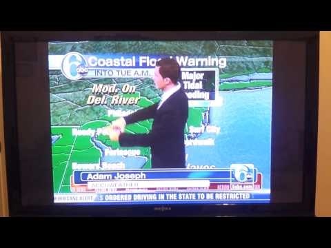 RUDE 6 ABC WEATHER GIRL CECILY TYNAN CALLS METEOROLOGIST ADAM JOSEPH A MORON ON LIVE T.V.