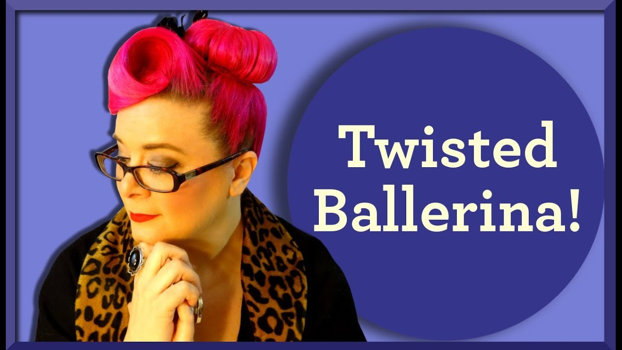 Ballerina Bun With A Vintage Twist Retro Hairstyle Youtube
