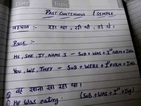 1-Past continuous tense in hindi | simple past continuous tense in hindi  | learn tenses in hindi
