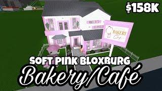 SOFT PINK BLOXBURG BAKERY/CAFÉ (158k) | Bloxburg Speedbuild | Roblox