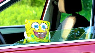 SpongeBob SquarePants stolen car. Ride on power wheels.