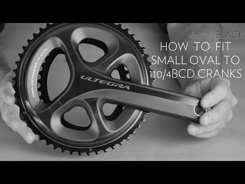 How to mount small oval absoluteblack oval chainring to Ultegra 6800 or DA 9000  crank