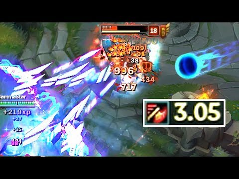 Plasma Minigun Ashe #8 (Attacking with 3.05 Atk Speed)