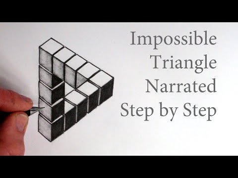 how-to-draw-the-impossible-triangle-with-3d-cubes:-optical-illusion
