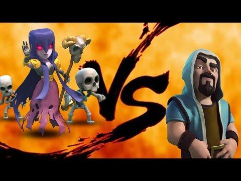 Clash Of Clans: WITCH Vs WIZARD - Troop Vs Troop