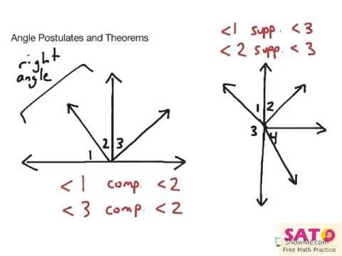 Angle Postulates And Theorems YouTube
