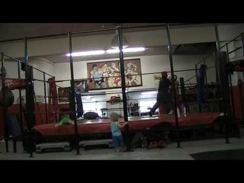 John Roodt sparring at Rupert van Aswegen,s Boxing Fitness on 17 December 2013