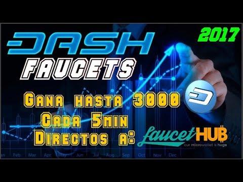 DASH Faucets 2017 | Gana hasta 3000 Dashis cada 5min directos a Faucethub | Serie: Criptomonedas #4