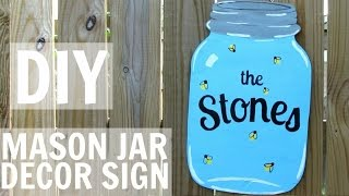 How To Make A Mason Jar Decor Sign!
