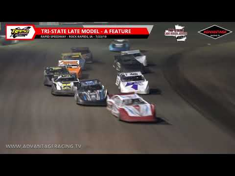 Tri-State Late Model Heats/Feature - Rapid Speedway - 7/23/19