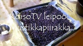 KorsoTV leipoo: Mustikkapiirakka
