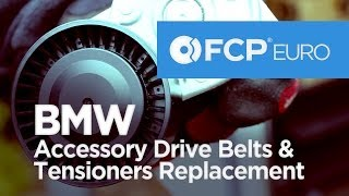 BMW Serpentine and Accessory Drive Belts/Tensioners Replacement (3-Series, 5-Series) EASY DIY