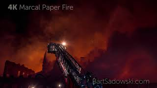 Close up Video of Marcal Paper Fire (watch in 4K Resolution) - Jan 30, 2019