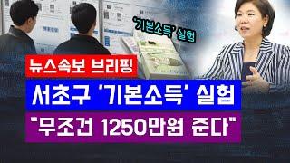 [뉴스속보] 서울 서초구 '기본소득' 실…