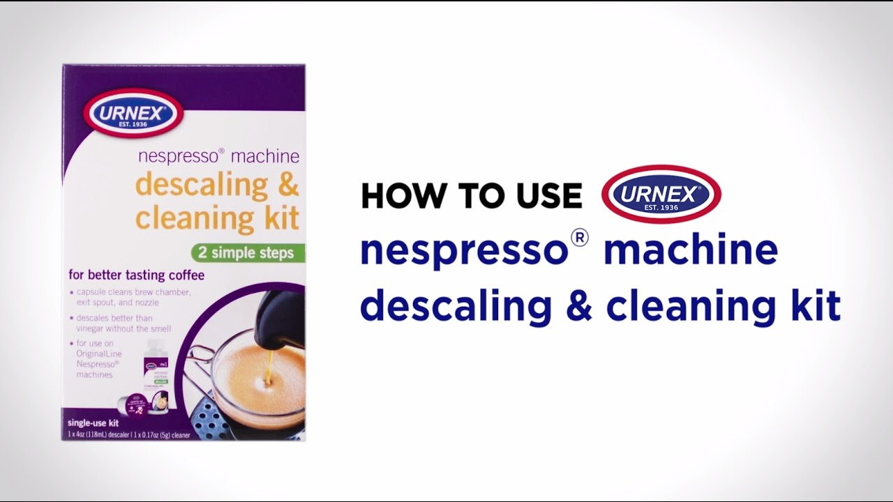 Cleaning And Descaling Kit For Nespresso Machines By Urnex
