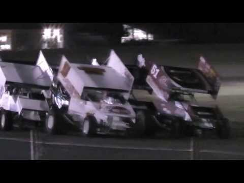 World of Outlaws heat 3 Friday of 60th Gold Cup - Silver Dollar Speedway