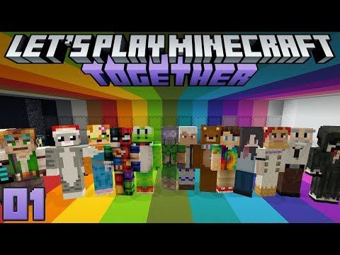Let's Play Minecraft Together 01 Starting A Communal Minecraft World!