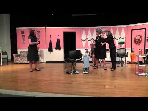 Steel Magnolias rehearsal at Woodland High School