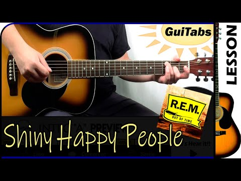 How To Play SHINY HAPPY PEOPLE 😊 - R.E.M. / Guitar Lesson 🎸 / GuiTabs #170