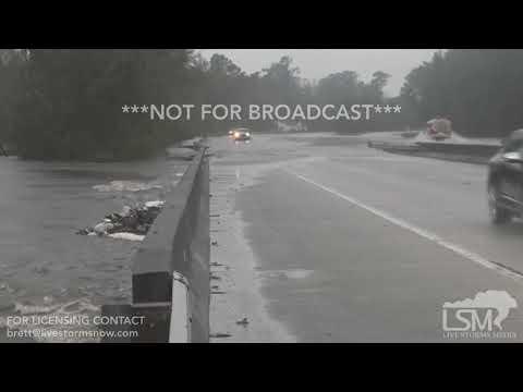09/15/2018 Jacksonville, North Carolina Stranded Vehicles and Severe Flash Flooding