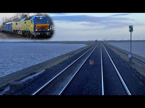 """Westerland-Niebüll mit MaK De 2700 / Di6 / ME26 (""""Das Marschbahn-Monster"""")"""