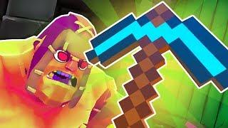 GORN'S *NEW* DIAMOND PICKAXE WEAPON! (Minecraft Mod) | Gorn VR Mods (HTC Vive Modded Candy Mode)