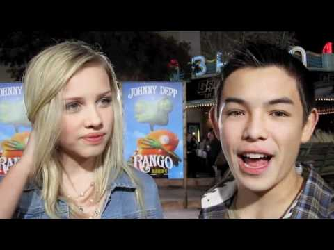 RYAN POTTER and GRACIE DZIENNY Supah Ninjas at the RANGO Premiere!