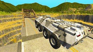 - BeamNG drive Open Bridge Jumping Car Crashes