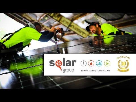Solar Group team installing Solar Power for tiny house