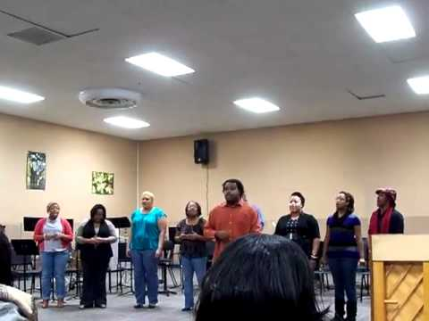 Me and some friends singing I Give Myself Away by William McDowell at performance workshop