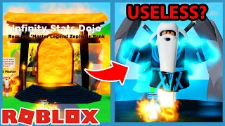 The New Infinity Stats Dojo Is Out But It's Useless Right Now... Roblox Ninja Legends Update