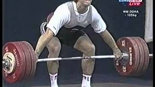 2005 World Weightlifting 105 Kg Snatch.avi