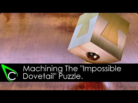 "Machining The ""Impossible Dovetail"" Puzzle - 100,000 Subscribers Thank You Giveaway (Winner Drawn!)"
