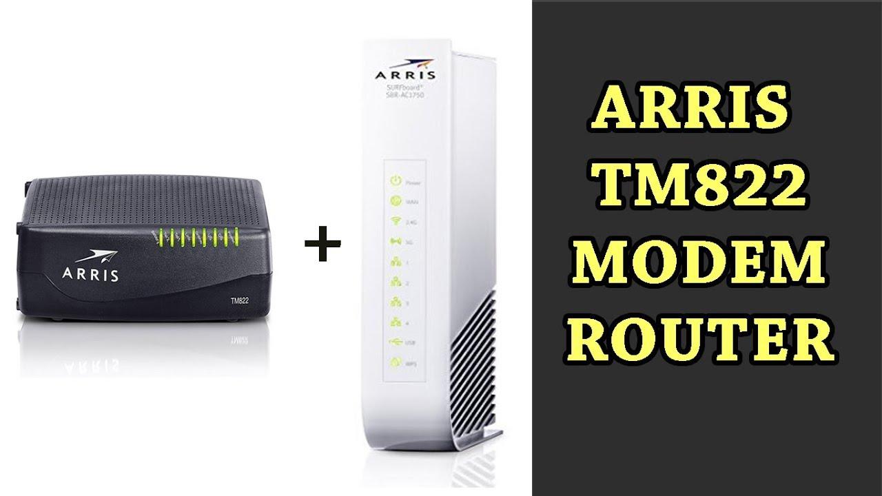 arris tm822 modem router youtube