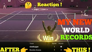 UNSEEN TENNIS GAME | DEFEATING ALL OPPONENT WITH ZERO POINTS| MY NEW WORLD RECORD