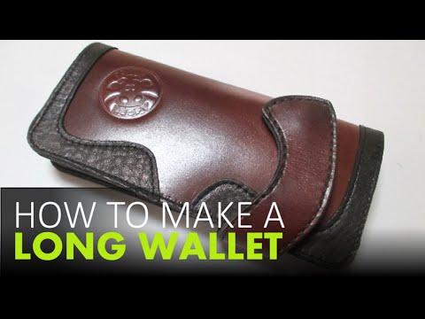 How To Make A Leather Wallet -- FREE Templates Download - YouTube - wallet designs templates